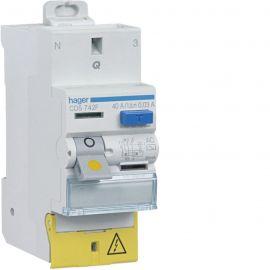 Image Interrupteur différentiel 2p 40a 30ma type ac à bornes décalées sanvis