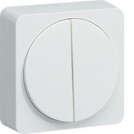 Image Ateha double interrupteur va-et-vient ou poussoir complet
