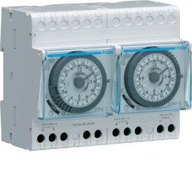 Image Programmateur modulaire analogique chauf élec avec fil pilote 2 zones 7j 230v