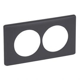 Image Plaque 2p 57mm basalte