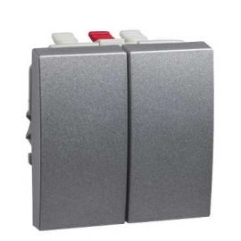 Image Altira - interrupteur double va-et-vient - aluminium