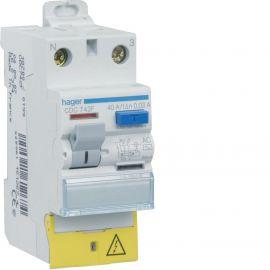 Image Interrupteur différentiel 2p 40a 30ma type ac à bornes décalées