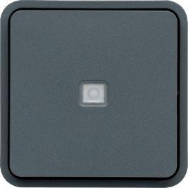 Image Cubyko poussoir 1o/1f lumineux associable gris ip55