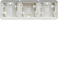 Image Cubyko boîte triple horizontale vide associable blanc ip55