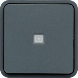 Image 2 Cubyko inter vv à voyant associable gris ip55