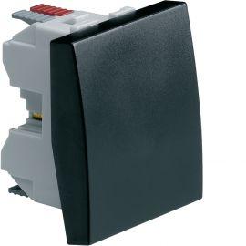 Image Systo interrupteur va-et-vient 10a 2 modules noir