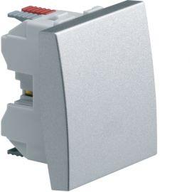 Image Systo poussoir 1f 10a 2 modules titane
