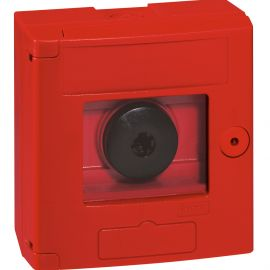 Image Declencheur manuel 125x125 rouge saillie equipe de vitre