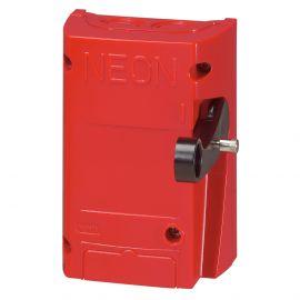 Image Coffret coupure enseigne rouge bipolaire 16a ip65 ik08 conforme a la norme en 50