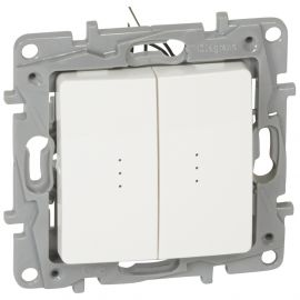 Image Commande multifonction double lumineuse blanc