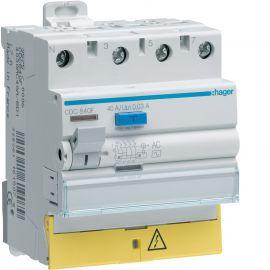 Image Interrupteur différentiel 3p+n 40a 300ma type ac à bornes décalées