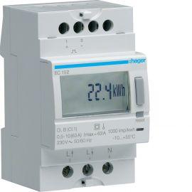 Image Compteur d'énergie électrique monophasé direct 63a double tarif
