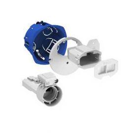 Image Multifix dcl, boîte d'applique avec couv. affleurant, connecteur, douille, fiche