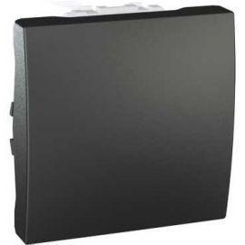 Image Unica graphite poussoir à fermeture 10 a connexion rapide 2 modules