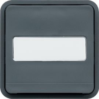 Image Cubyko poussoir à fermeture 1f porte-étiquette 1f associable gris ip55