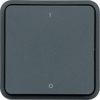 Image Cubyko interrupteur bipolaire marqué 0/1 associable gris ip55
