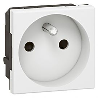 Image Prise 2p+t std f/b bornes automatiques 2 modules blanc