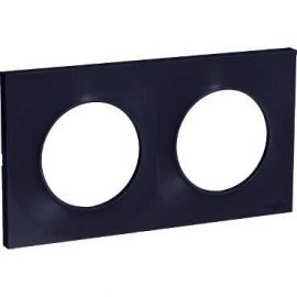 Image Odace styl, plaque anthracite 2 postes horiz./vert. entraxe 71mm