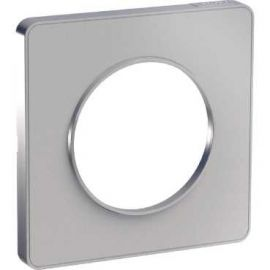 Image Odace touch, plaque alu 1 poste