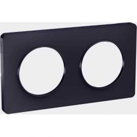 Image Odace touch, plaque anthracite 2 postes horiz. ou vert. entraxe 71mm