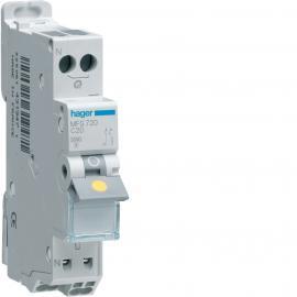 Disjoncteur 1p+n 3ka c-20a connexion sanvis 1 module